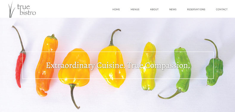 True Bistro Website Design